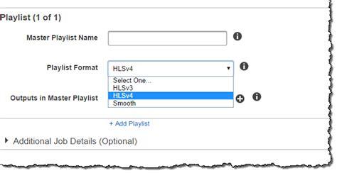 format audio hls elastic transcoder update support for hls v4 推酷