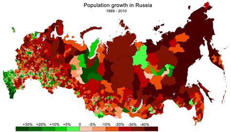 russia map and population maps