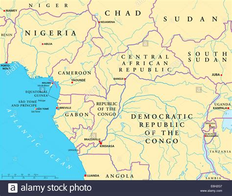 west africa map capitals west central africa political map with capitals national