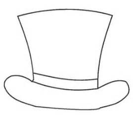 coloring page of a top hat top hat template clipart best