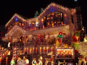 Most Beautiful Christmas Decorated Homes by Beautiful Christmas House Lights Places Image