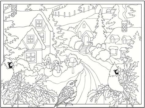 5 free winter scenes coloring pages realistic coloring pages
