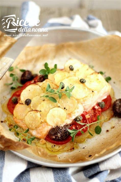 come cucinare salmone al forno salmone al forno light con patate
