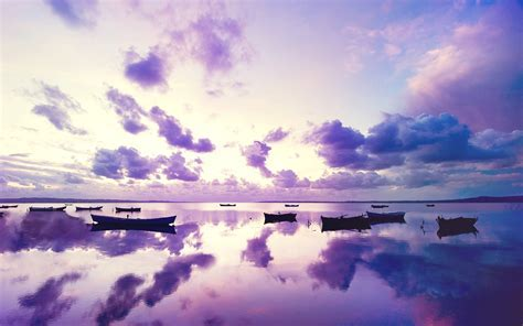 Purple Sunset In Ocean, HD Nature, 4k Wallpapers, Images