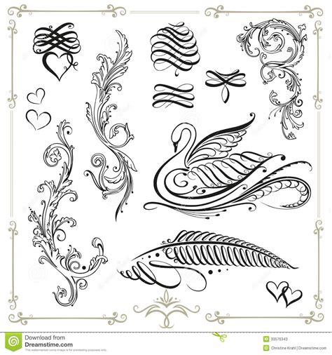 typography elements calligraphy design elements stock vector image 33576343