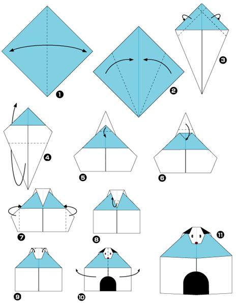 dog house diagram origami of dog house