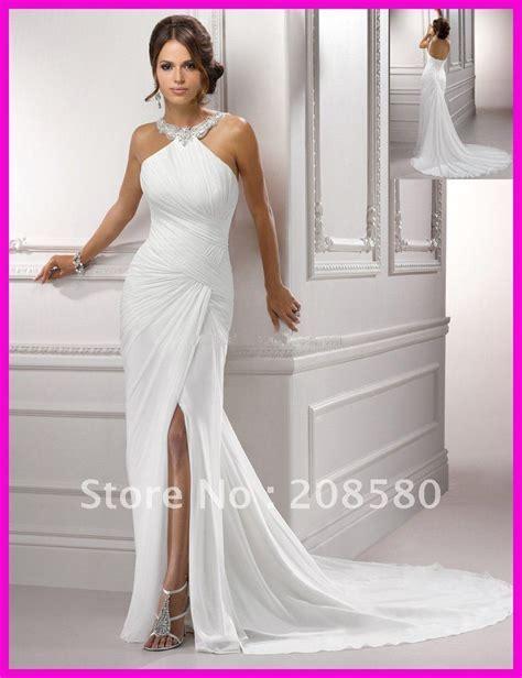 Halter Chiffon Beach Wedding Dress Size 1 Wedding Dress