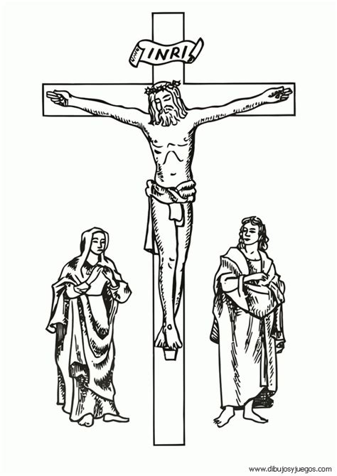 imagenes de jesus en la cruz para colorear dibujo de jesus en la cruz crucifixion 001 dibujos y