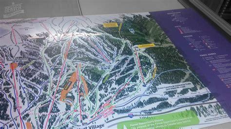copper mountain colorado map copper mountain trail map signs denver printing company