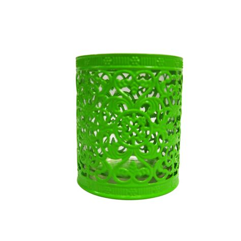 decorative cup candle holder green