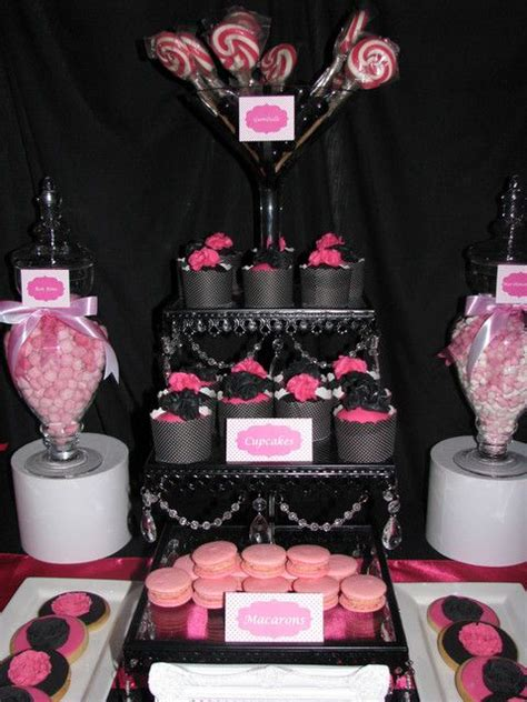 Pink And Black Birthday Decorations by Black Pink White Birthday Ideas Birthdays