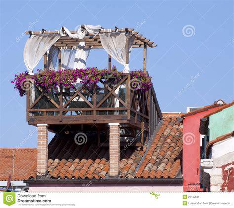 terrazzo sul tetto venezia terrazzo sul tetto immagine stock immagine