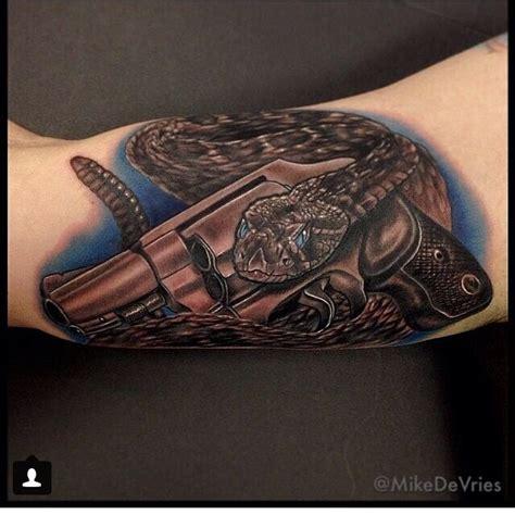 2a 2ndamendment gun and snake tattoo gadsden flag mike