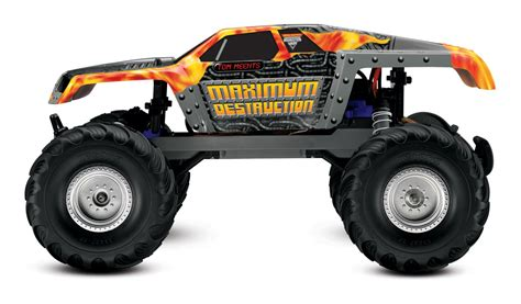 maximum destruction monster truck videos traxxas maximum destruction rtr incl 8 4v battery and