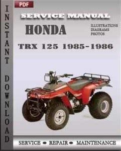 small engine repair manuals free download 1986 land rover range rover parking system honda trx 125 1985 1986 service manual pdf repair service manual pdf