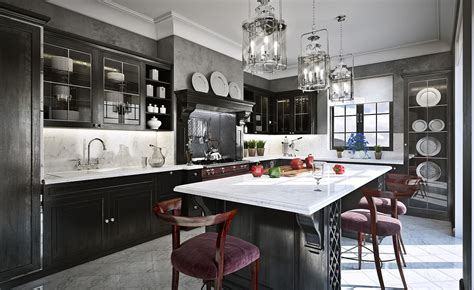 Black And Grey Kitchen Cabinets 11 Luxurious Traditional Kitchens