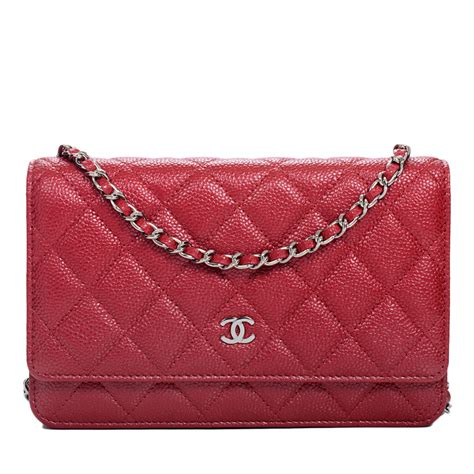 Sale Tas Wanita Lv Classic Woc chanel pink classic quilted glazed caviar wallet on chain woc world s best