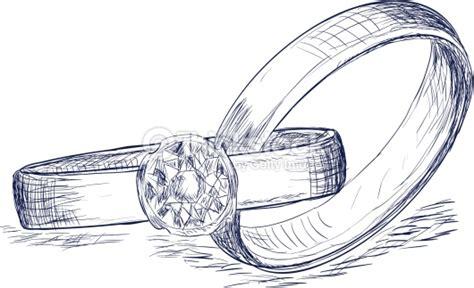 Eheringe Zeichnen by Hochzeitsringe Skizze Vektorgrafik Thinkstock