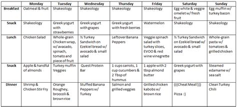 disorder meal plan template a fit sle 2 week clean meal plan