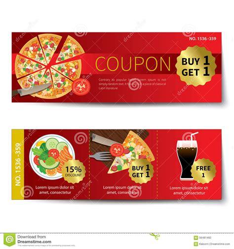 discount food set of food voucher discount template design stock vector image 56481460