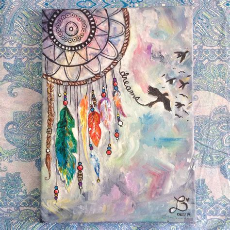 painting pattern pinterest dream catcher made for someone special acrylic on 10x12