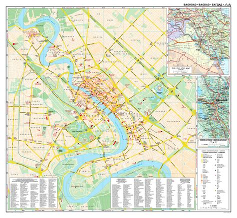 map of baghdad iraq large road map of baghdad city baghdad iraq asia