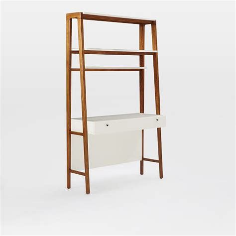west elm ladder desk modern wall desk west elm