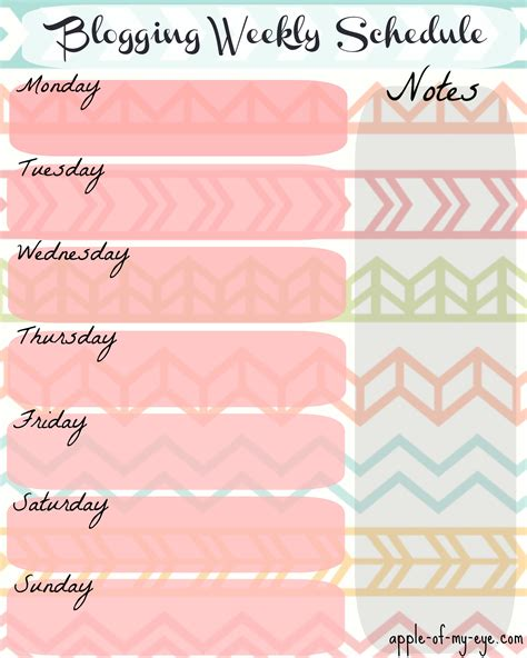Pretty Weekly Planner Template Templates Data Pretty Templates