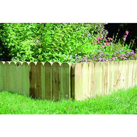 Landscape Edging Wooden Posts Wickes Timber Dome Top Border Edging 230mm X 1m Wickes Co Uk