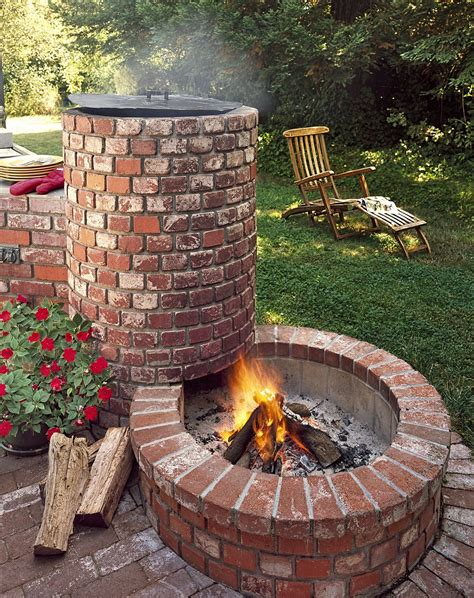 diy pit bricks all about built in barbecue pits cfires concrete and bricks