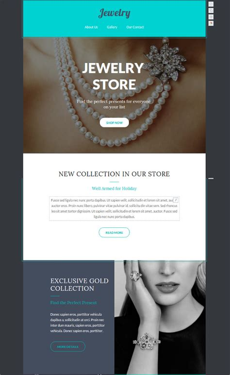 responsive jewelry website templates free style guru