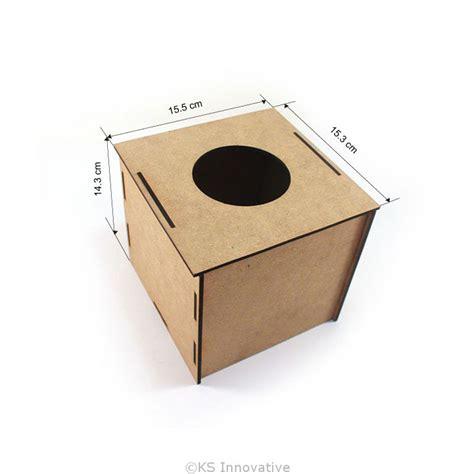 Small Tissue Box 2 wooden square tissue box