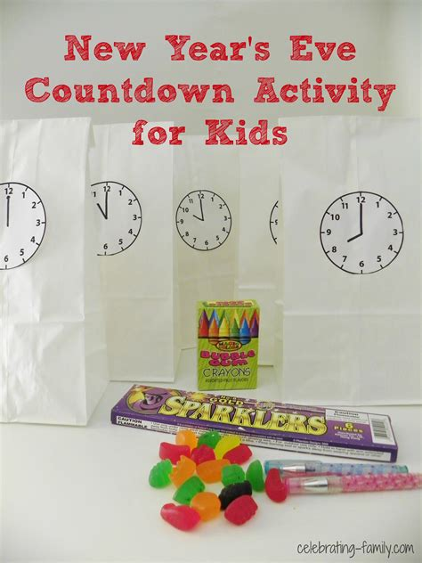 activities for new years new year s countdown activity for