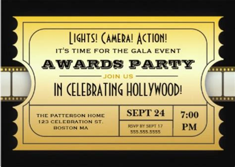 15  Award Invitation Templates ? Free Sample, Example