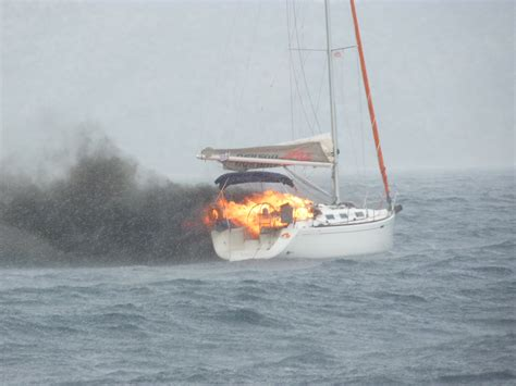 yacht on fire three rescued from blazing yacht yachting monthly