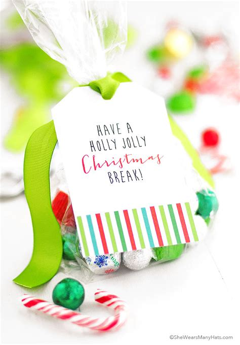 printable christmas bag tags printable christmas goodie bag tags she wears many hats
