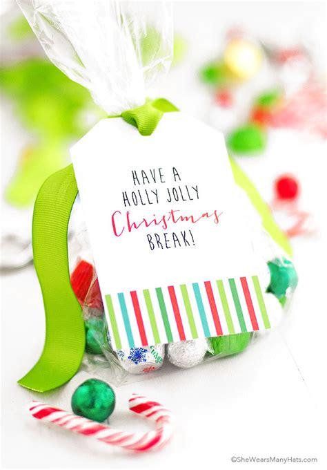 printable christmas gift bag tags printable christmas goodie bag tags she wears many hats