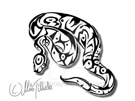 ball python tattoo python by demondes on deviantart