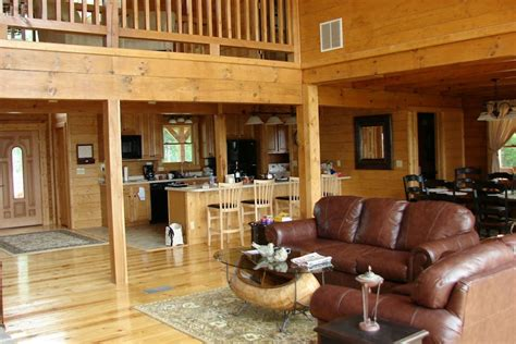 interior log home cabin pictures battle creek log homes