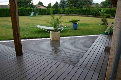 parquet terrasse composite maison contemporaine en bois plan