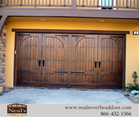 tuscan style custom garage doors designs  installation