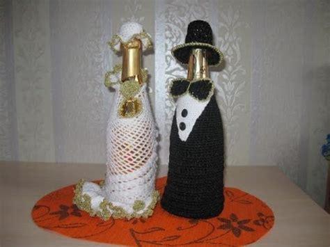 botellas de sidra decoradas para el novio imagenes con diamantina botellas decoradas para bodas tejidas a crochet youtube