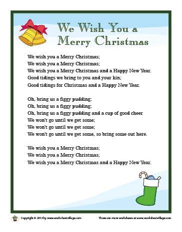 we wish you a merry testo we wish you a merry lyrics photozzle