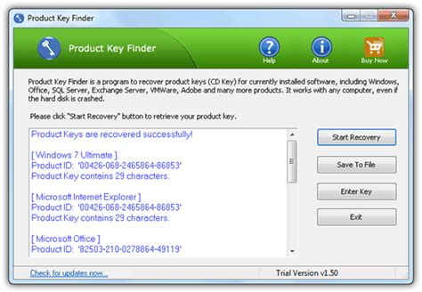 Top Finder 10 Software To Recover Product Key Licenses From Computer Raymond Cc
