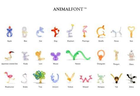 Animal balloon font 171 make balloon animals
