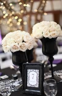 white and black centerpieces wedding ideas black and white wedding ideas