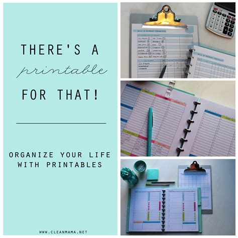 organize your life there s a printable for that organize your life with