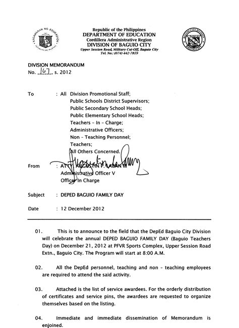 Deped Official Letterhead deped seal