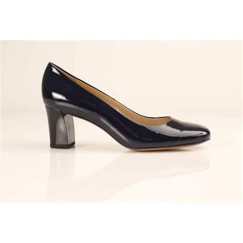 patent shoes kaiser plata navy blue patent court shoe with