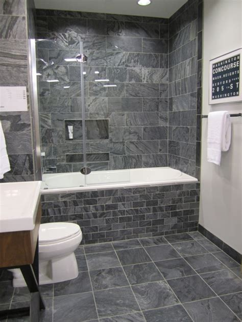 bathroom with grey tile floor 40 gray bathroom wall tile ideas and pictures